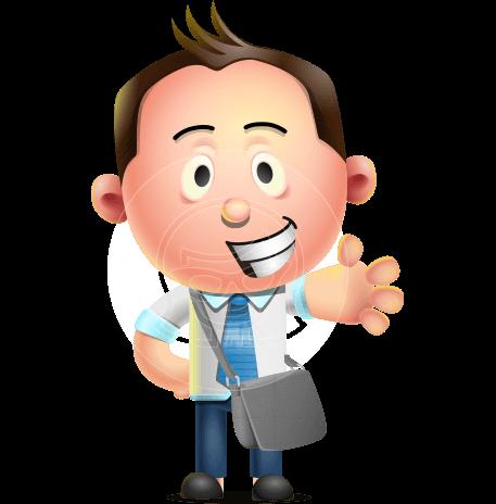 Vector 3d Businessman Character Design Graphicmama Character Design Character Cartoon Characters