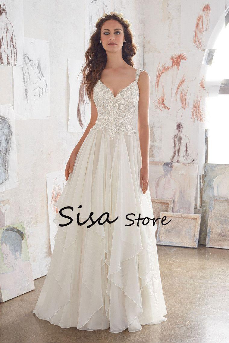 Cheap boho wedding dresses  EMBELLISHMENT Applique BeadingSequins FEATURED Cheap Under