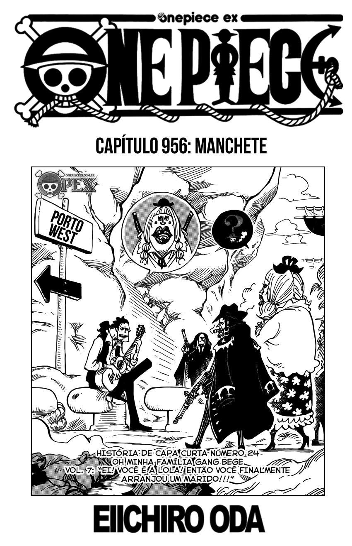 Capitulo 956 Manchete Manga Opex Manga One Piece One Piece Ex Manga