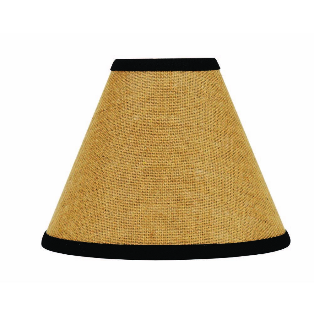 Lamp Shade 10 Inch Burlap Stripe Black Primitive Style Decor Ring Clip Top The Rustic Look Of Burlap Fabric Is Burlap Lampshade Home Collections Lamp Shade