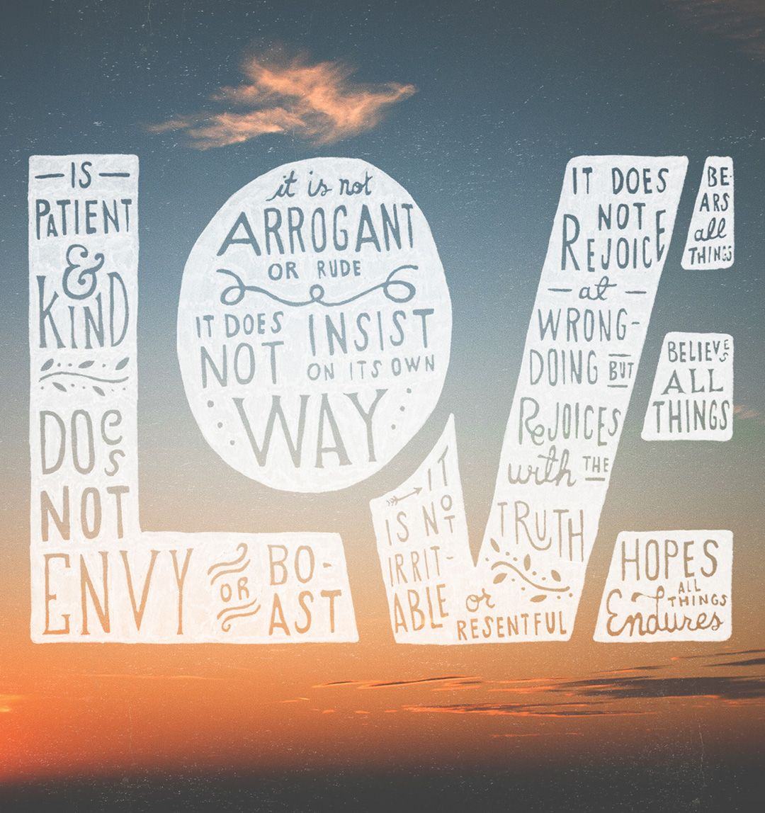 1 Corinthians 13 4 7 Words