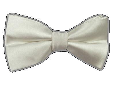 Solid White Carl White Bow Tie Satin Bow Tie Tie