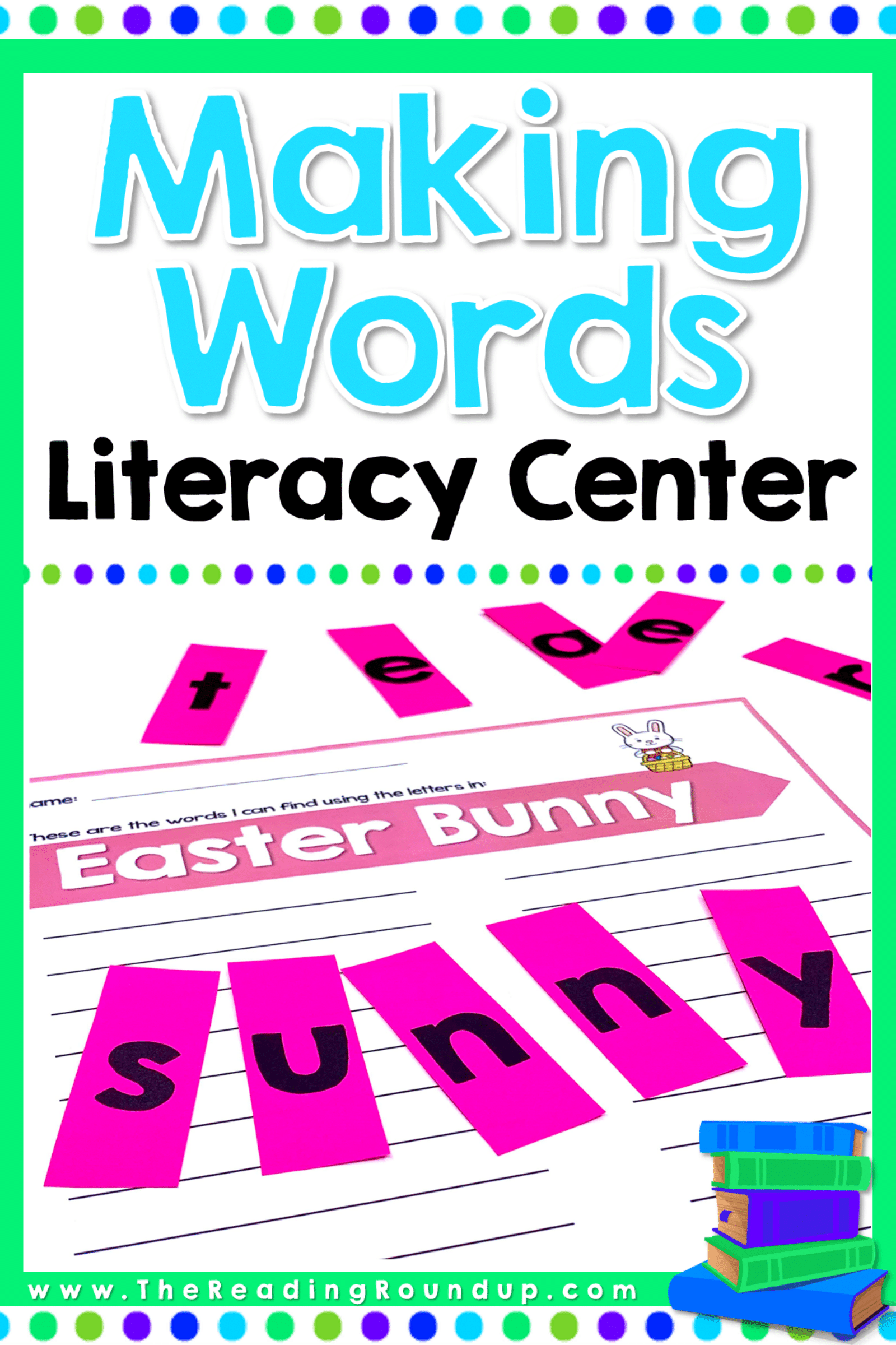 Making Words Literacy Center Holidays