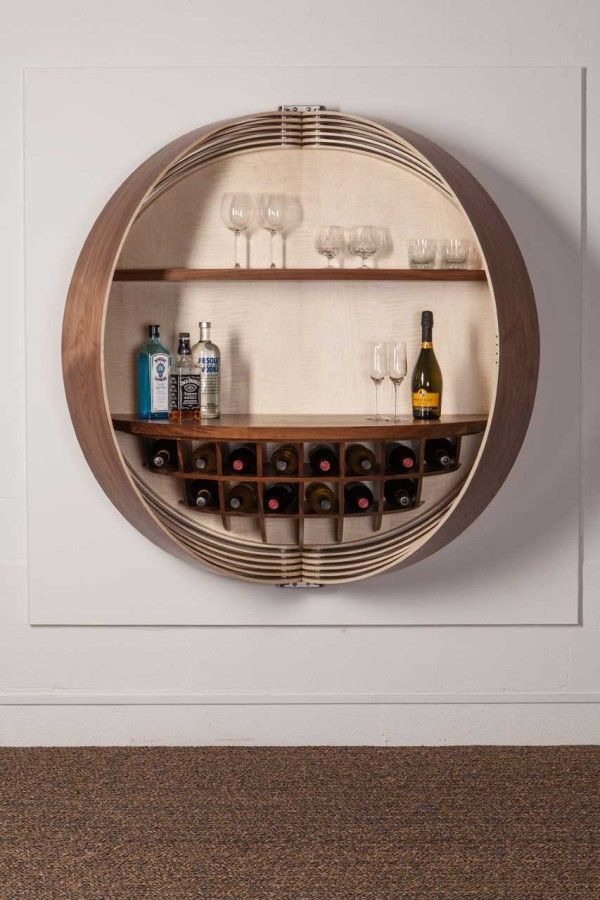 Incroyable A Wall Mounted Bar Cabinet Inspired By A Spinning Coin Photo