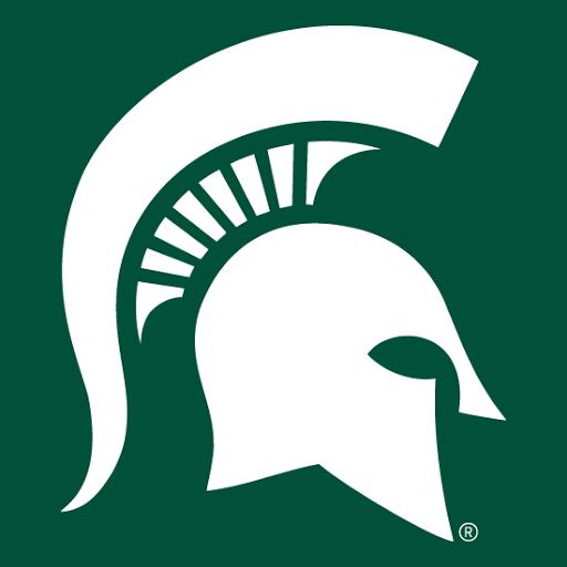 Michigan State Spartans Contemporary Spartan Helmet Logo Reversed Michigan State Michigan State Spartans Michigan
