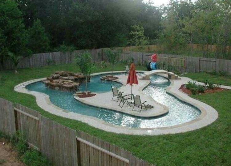 Backyard lazy river cost google search swimming