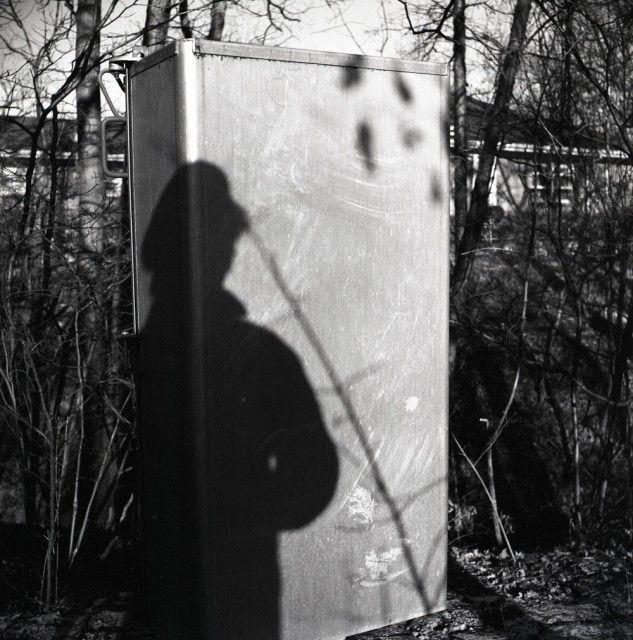 North Shore, Chicago (Vivian's Shadow on Electric Box), 1965