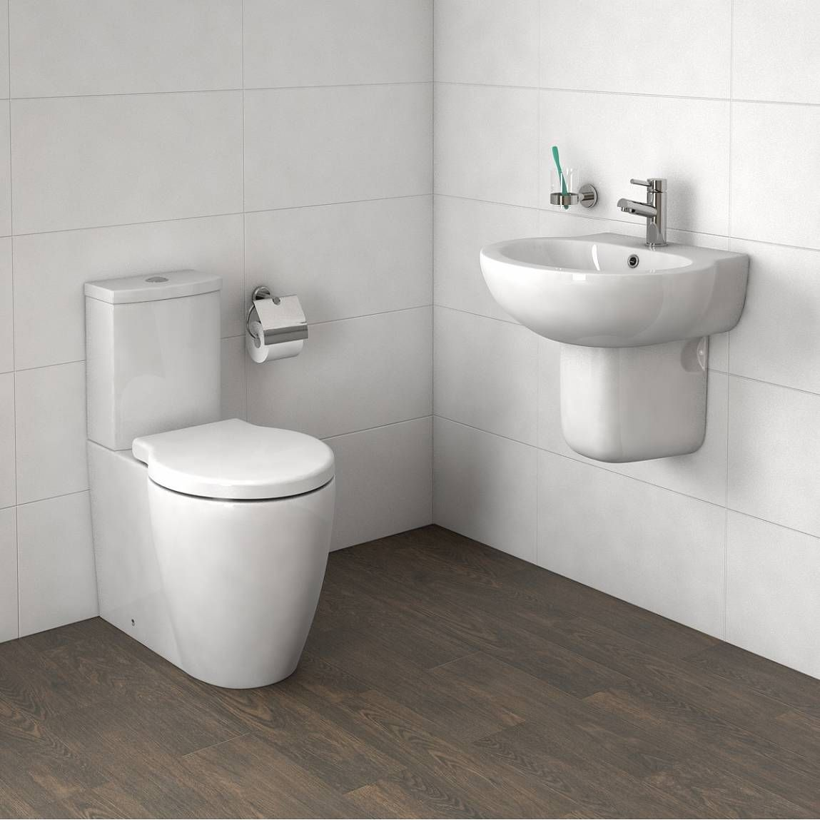 Bathroom Accessories Victoria Plumb mode maine close coupled toilet and semi pedestal basin suite
