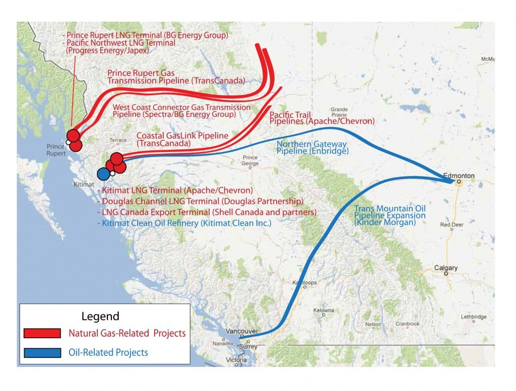 Map Enbridge S Northern Gateway Pipeline And The