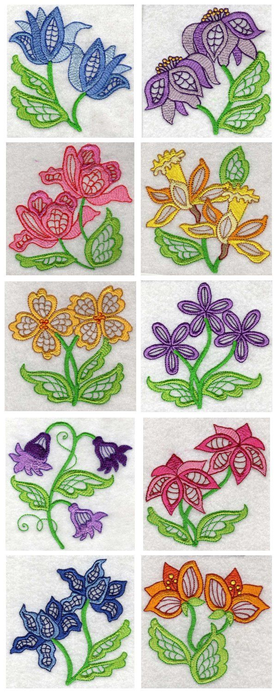 Design embroidery jacobean machine designs