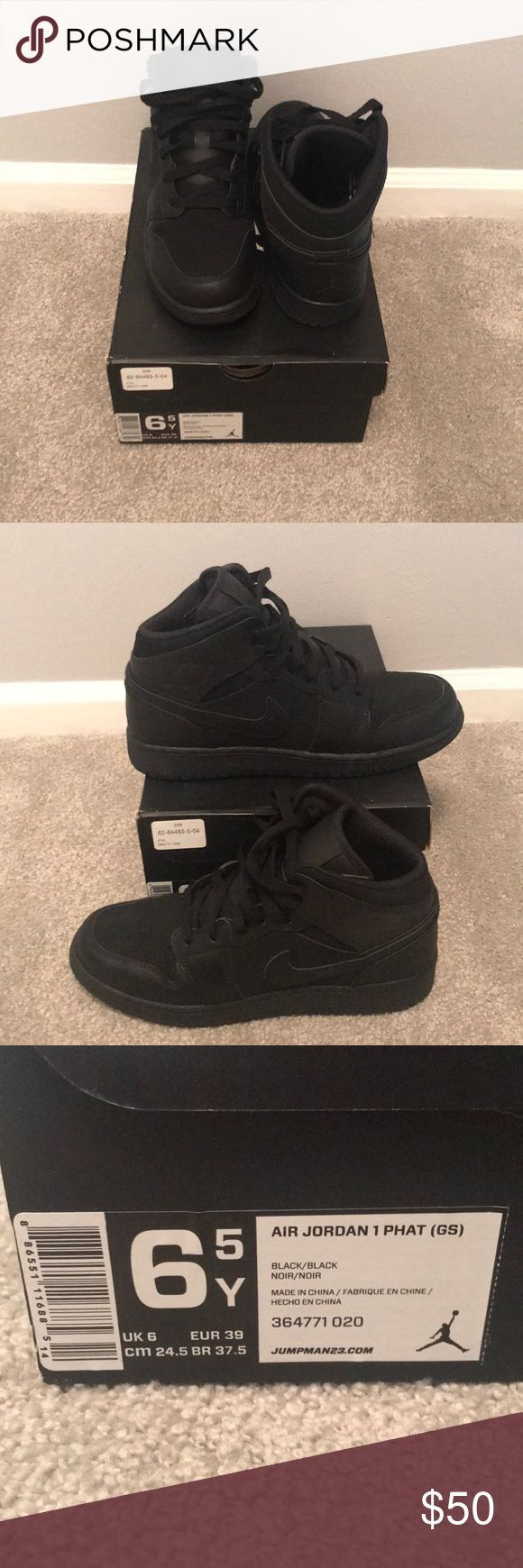 Brand new air Jordan 1 phat high top Brand new. Never worn! Kids 6.5 black air J - Jordan 1 Outfit Women - Ideas of Jordan 1 Outfit Women #jordanoutfit #womenjordan -   Brand new air Jordan 1 phat high top Brand new. Never worn! Kids 6.5 black air Jordan 1 phat high top nike!!!! If youre a women size 8 you can fit into these perfect! Never worn!!!! Nike Shoes Sneakers #airjordan1outfitwomen