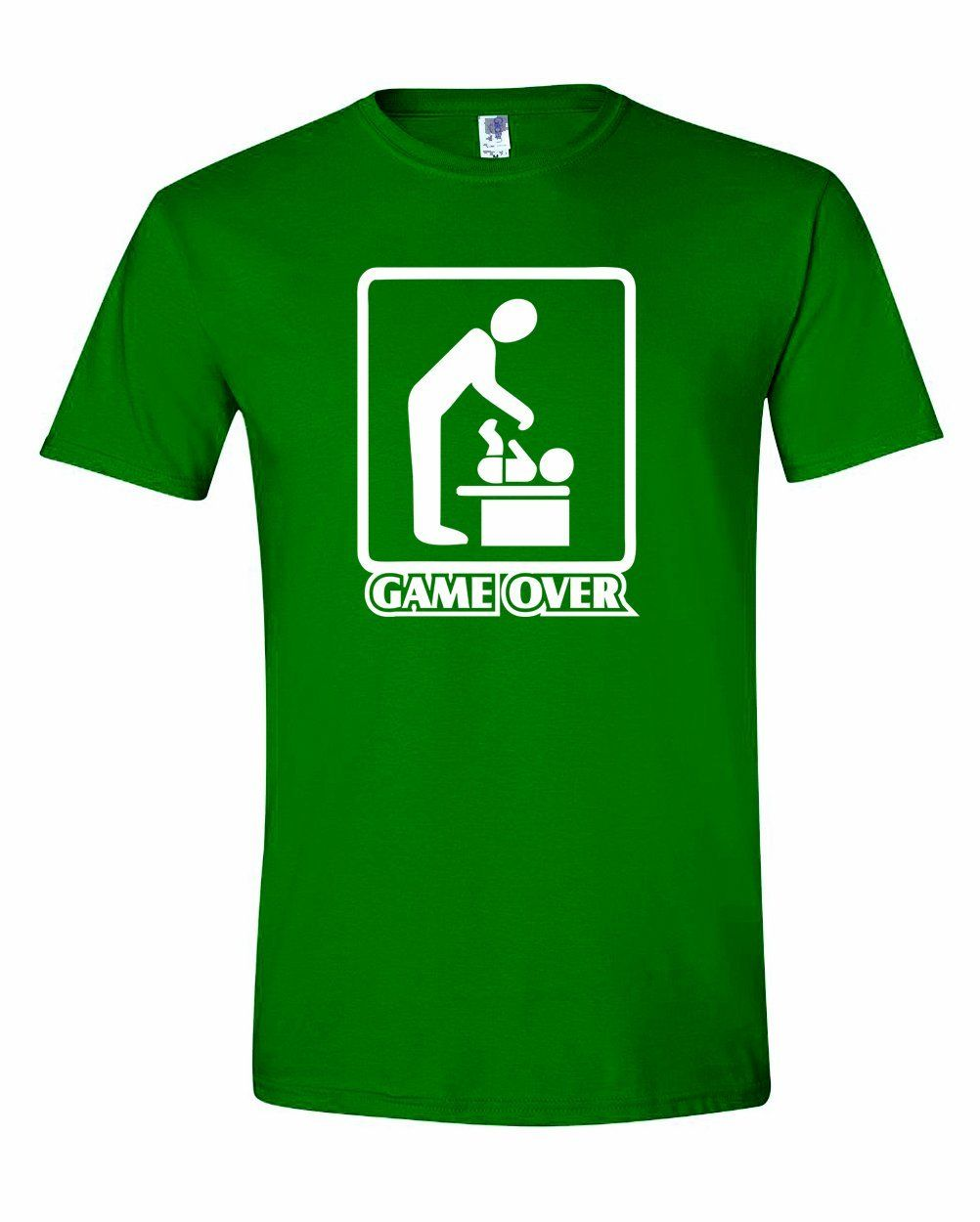 Mens Game Over Diaper Changing Father Funny Dad New Parent T-Shirt