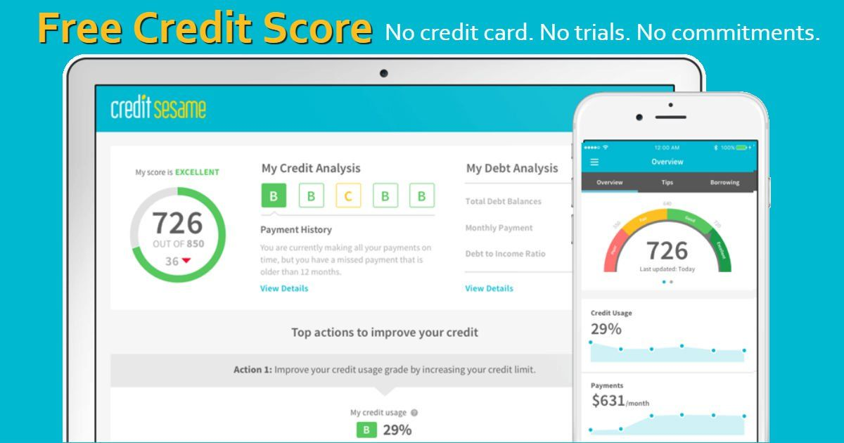 FREE Credit Score & Monthly Monitoring Reports No credit