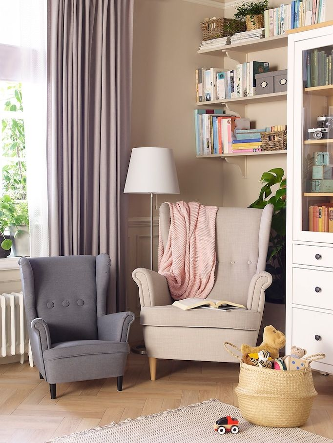 Strandmon Wing Chair Children S Couches Living Room Apartment Living Room Chairs Home Room Design