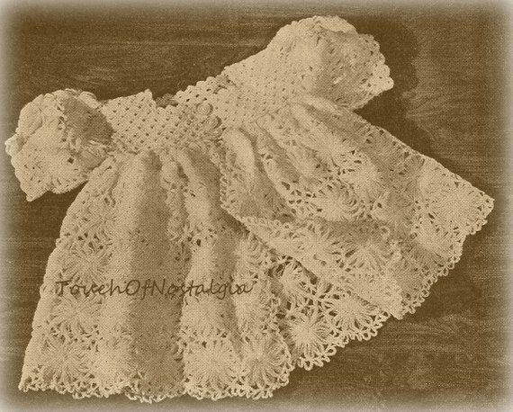 knitting /& crochet patterns for beautiful baby bonnets-repro antique 9 Vintage