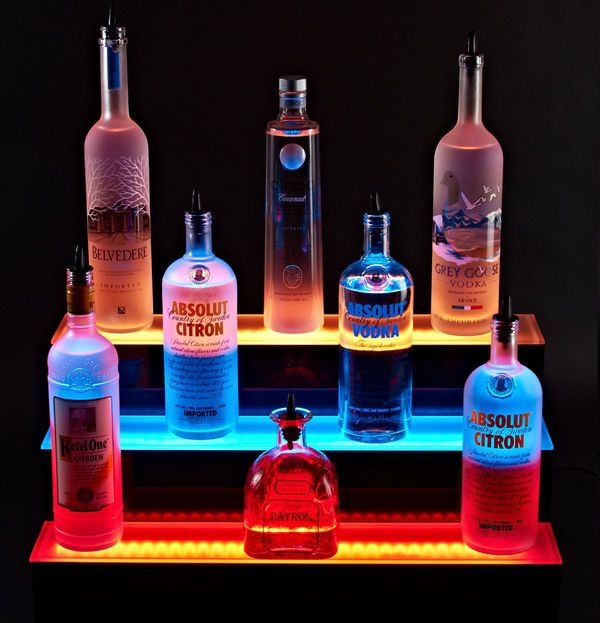 Illuminated Led Bar Shelves   Led Bar Display With Wireless Remote Control  (VIDEO)