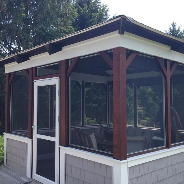 Screened Porch And Garage Oasis: Pin By Armstrong-Clark On Decks, Porches, And Gazebos
