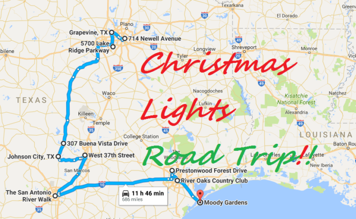 The Christmas Lights Road Trip Through Texas That's