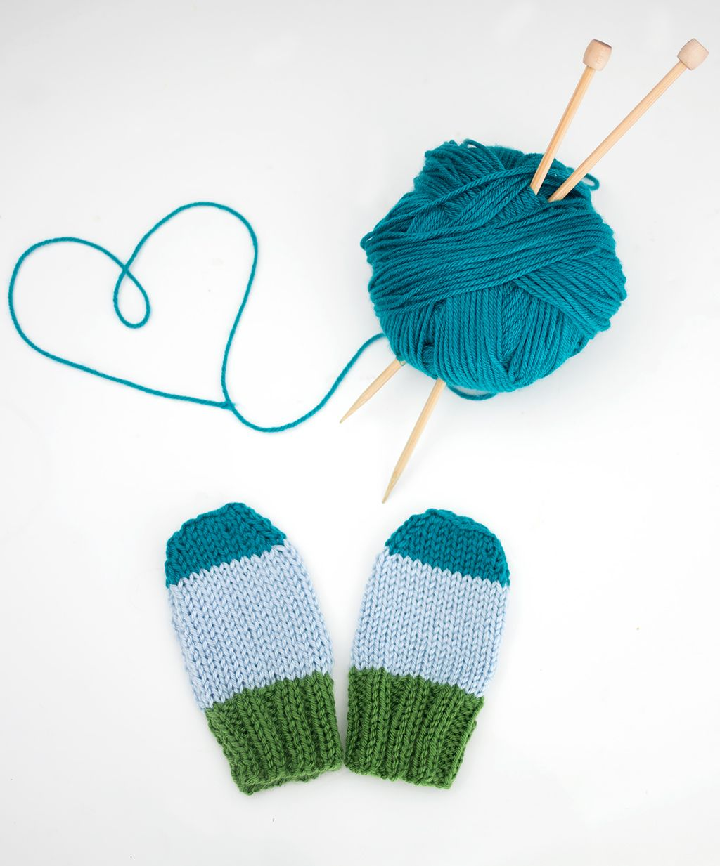 Flat Knit Baby Mitts - Gina Michele | Baby mittens ...