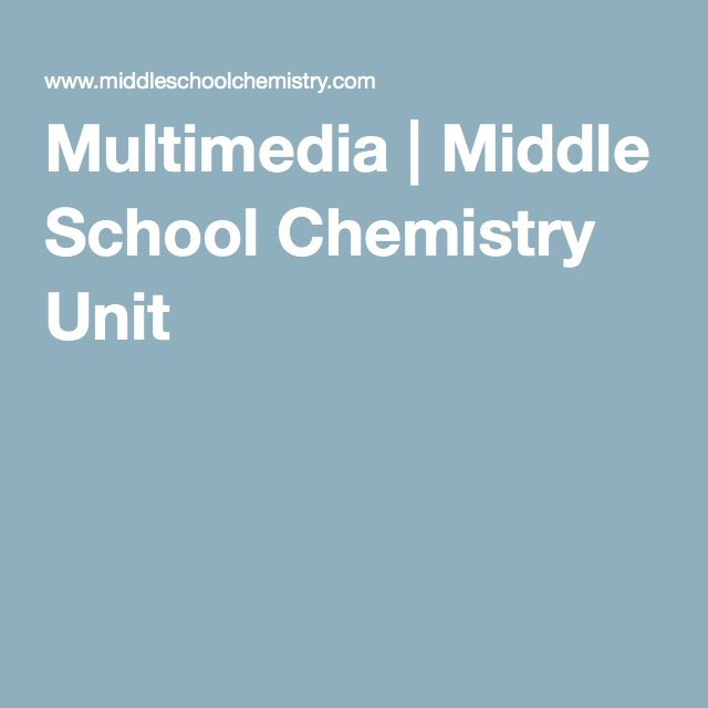 Multimedia | Middle School Chemistry Unit