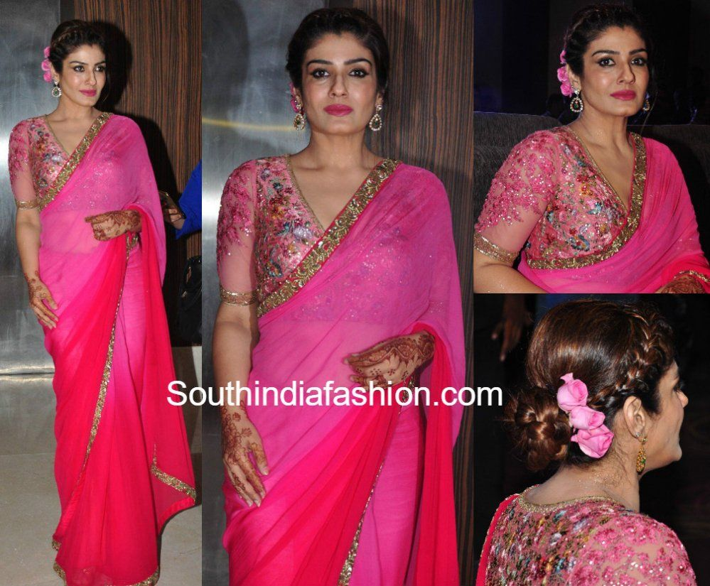 Raveena Tandon in Varun Bahl saree