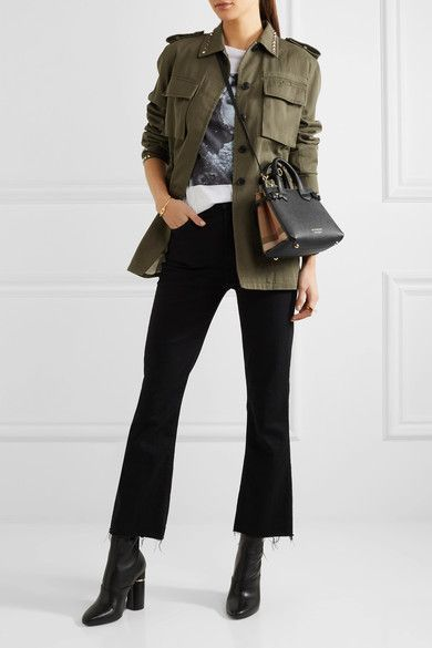 8640e6dd636 Burberry - Textured-leather And Checked Canvas Tote - Black ...
