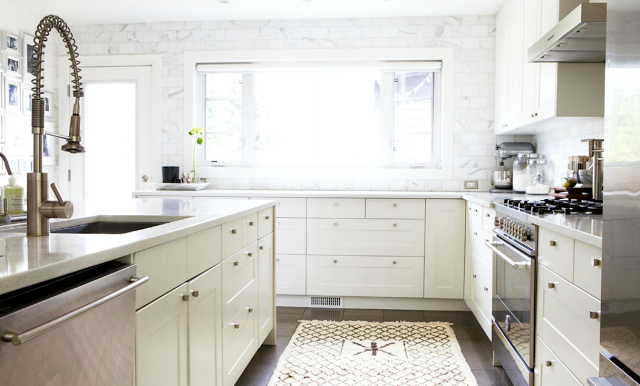 Erica Cook's dreamy kitchen featured in Rue Magazine and on danielle oakey interiors