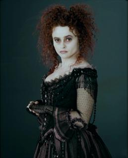 Mrs Lovett A Study In Hair Make Up Hair Looks Like Messy Pinned Back Bangs Messy Twin Buns Make Up Lots Of Mrs Lovett Sweeney Todd Helena Bonham Carter