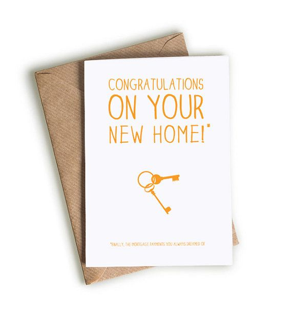 Congratulations on your new house / Funny new home Card