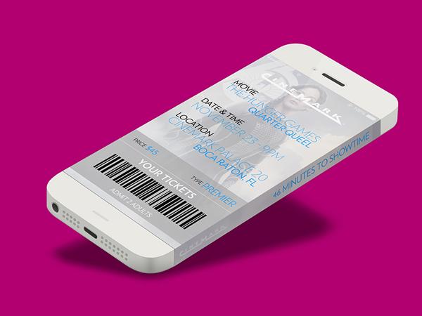 iPhone 6 Infinity Cinemark Movie Ticket App by Edwin Diaz