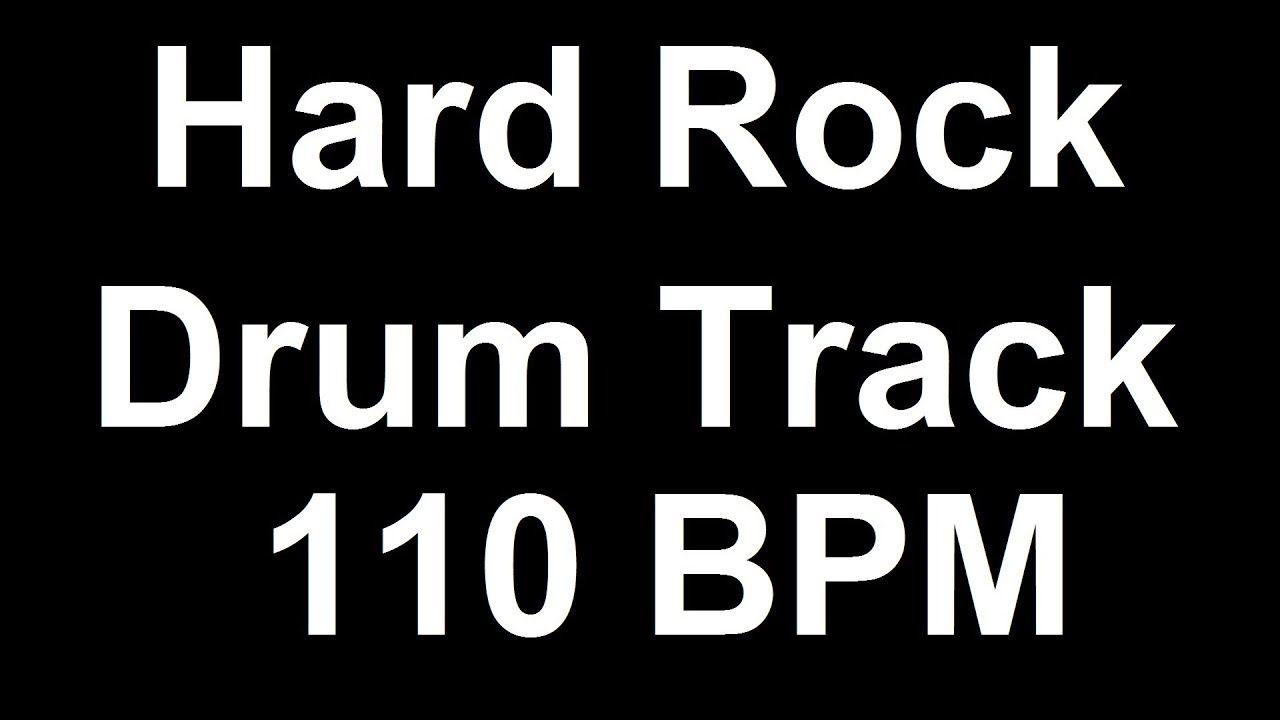 Hard Rock Drum Beat 110 BPM Bass Guitar Backing Track Loop