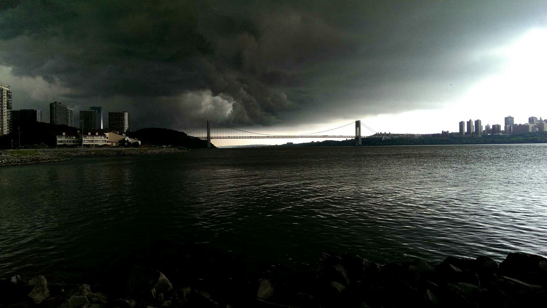 Storm over the GWB