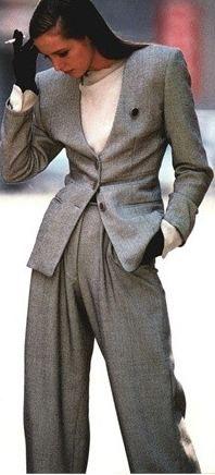 Classic grey suit.