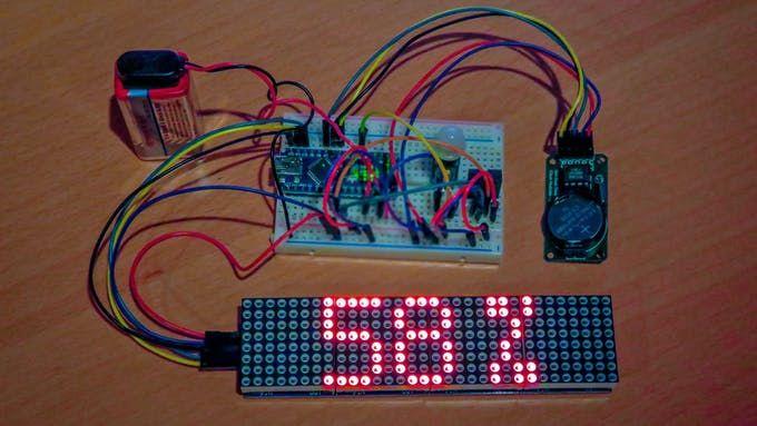 Schema Elettrico Driver Led : Arduino 32x8 led matrix test setup arduino arduino led arduino led