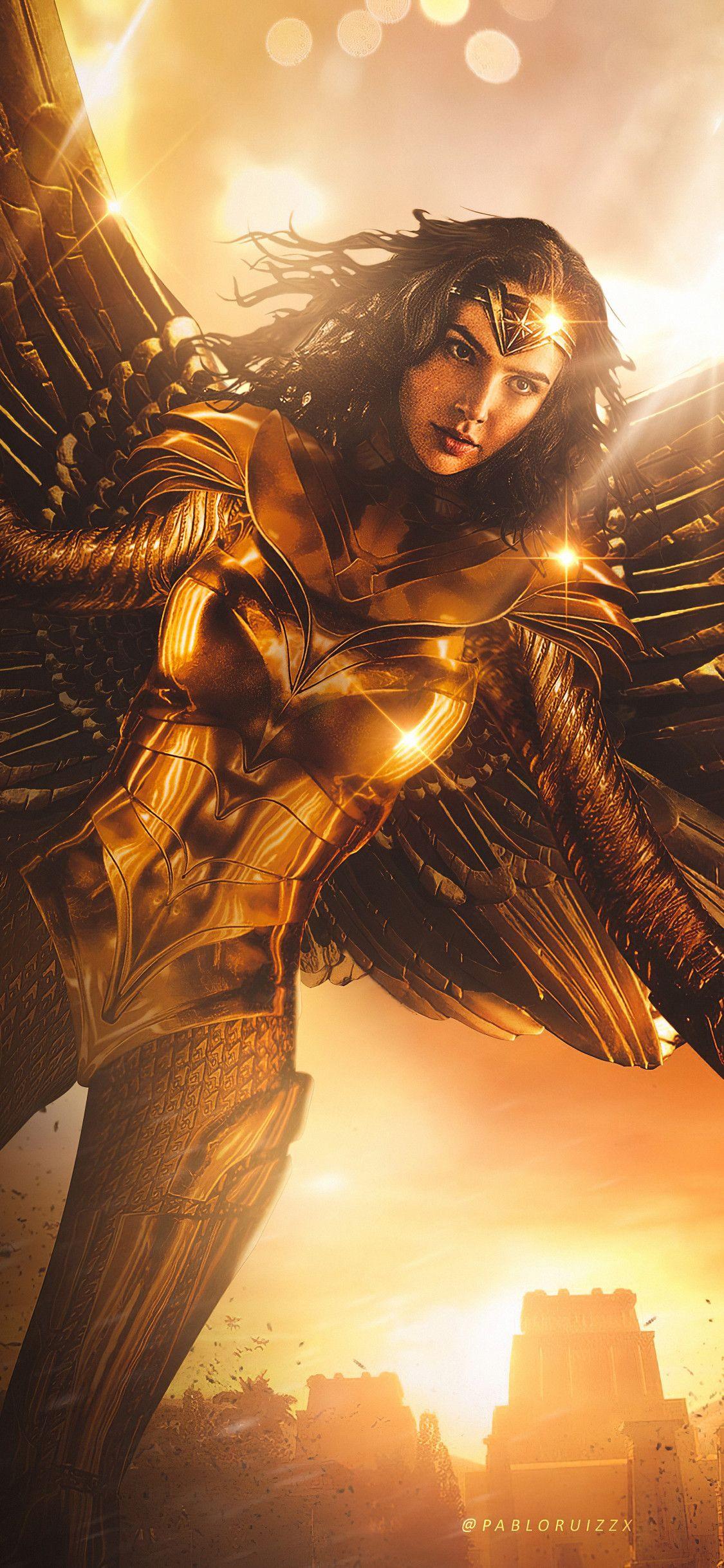 Wonder Woman 1984 Wings In 1125x2436 Resolution In 2020 Wonder Woman Comic Gal Gadot Wonder Woman Wonder Woman Art