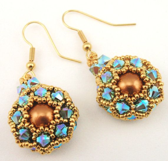 Instructions for Padme Earrings     Beading tutorial