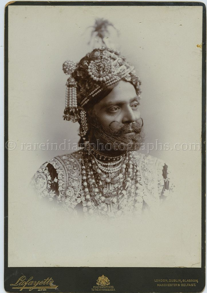Card Portrait Of Madhav Singh, Rao Raja of Sikar