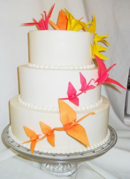 pink, orange & yellow origami cake | Stacey's 13th ... - photo#30