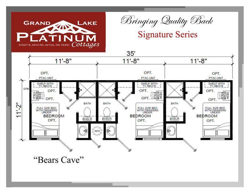 Bears Cave Floorplan Cottage Park Homes Fishing Cabin