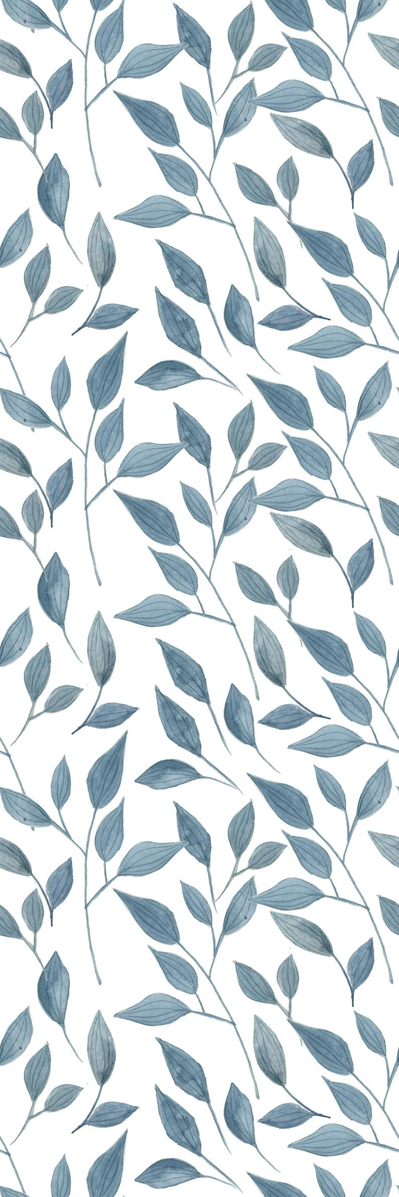 Removable Wallpaper Self Adhesive Wallpaper Handdrawn Blue Etsy In 2021 Iphone Background Wallpaper Cute Patterns Wallpaper Aesthetic Iphone Wallpaper