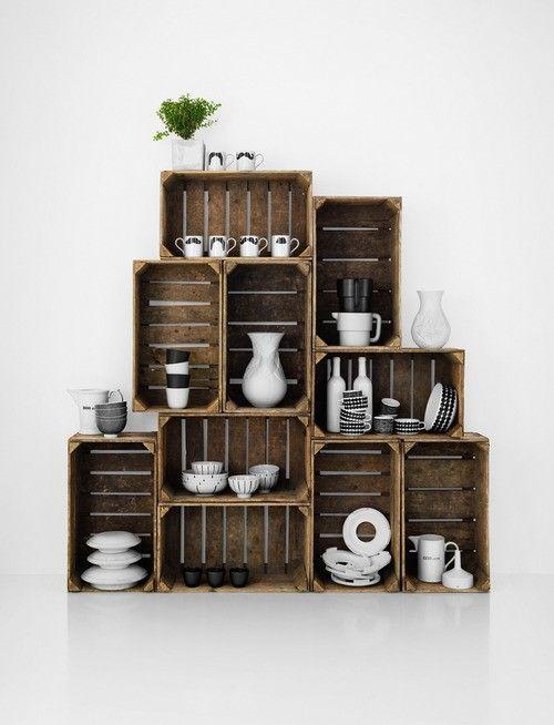 Coisas simples que fazem a diferença | Crate shelves ...