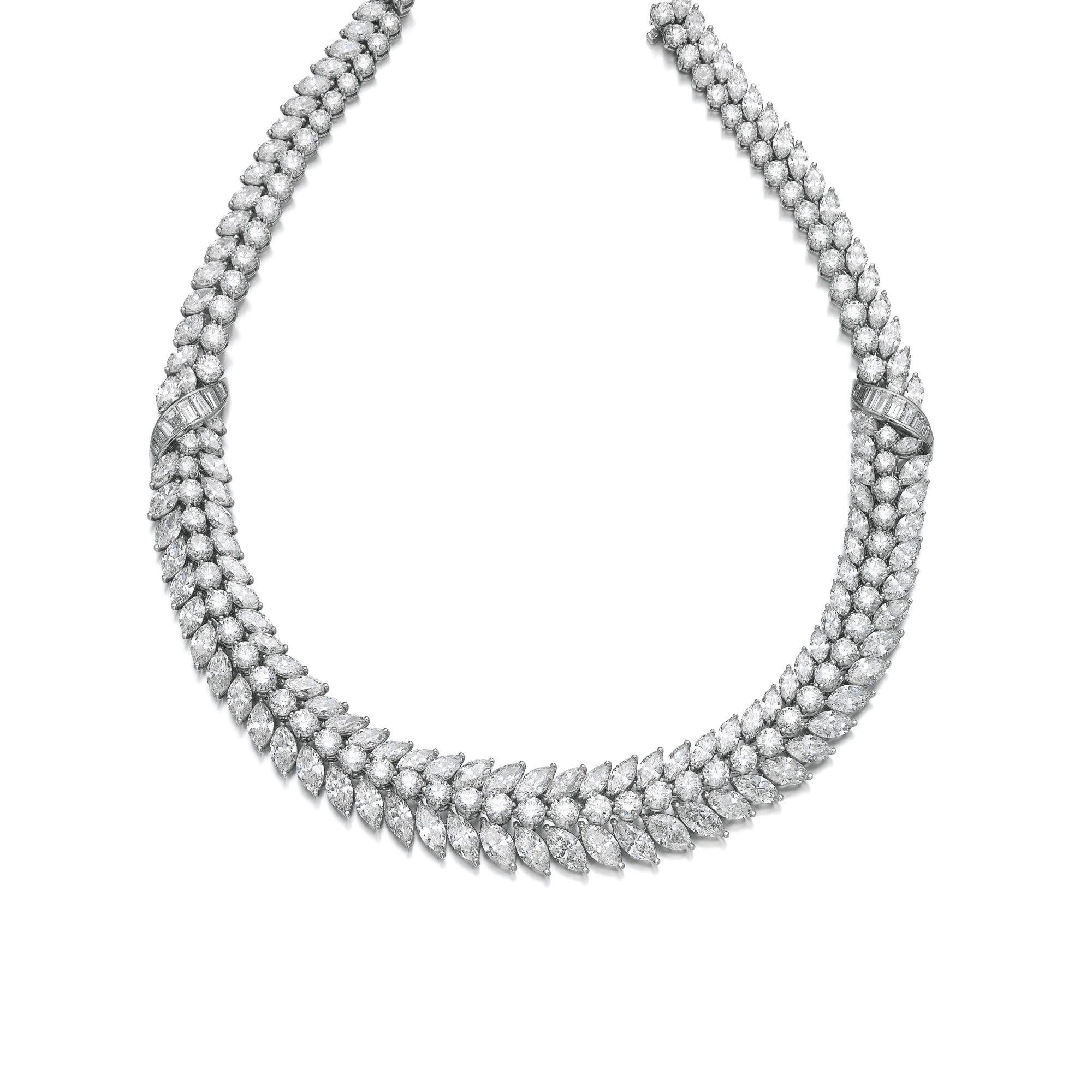 Diamond necklace lot sothebyus jewlery pinterest diamond