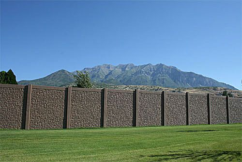 Aftec Highway Sound Walls And Traffic Noise Barriers Backyard Fences Fence Landscaping Easy Fence