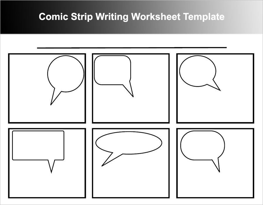 Comic Strip Writing Worksheet Template    Writing  Teaching