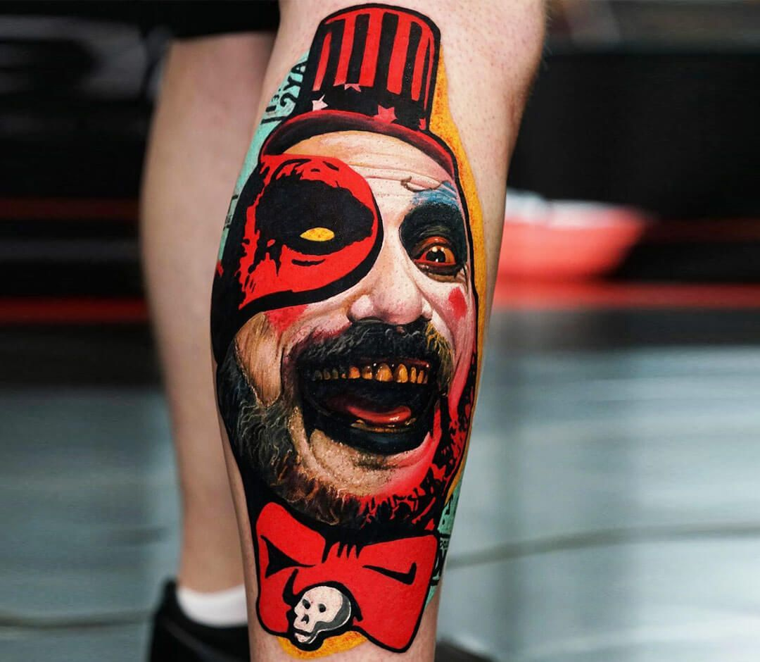 Photo Captain Spaulding tattoo by Dave Paulo Rob