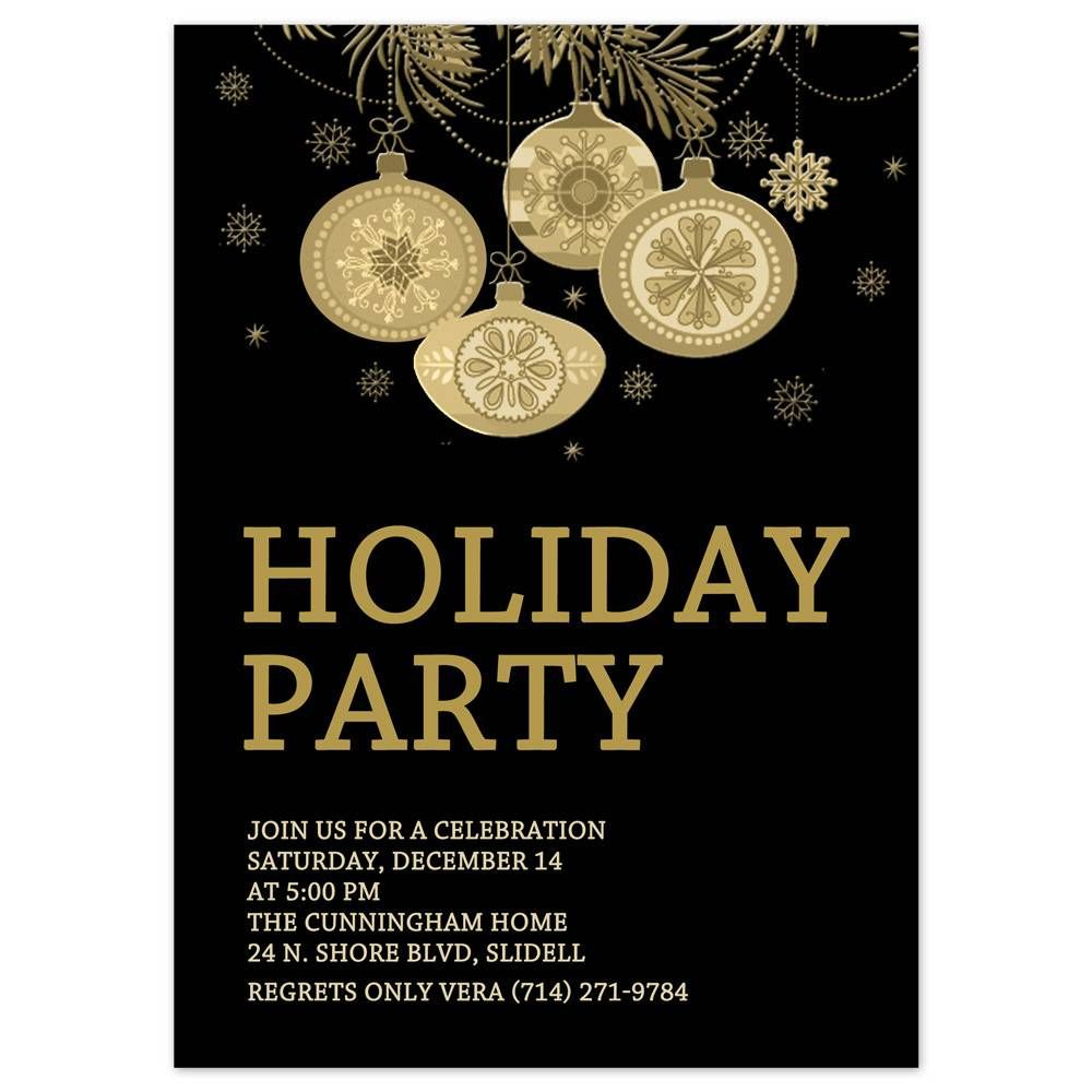 Holiday Party Invitation Templates Free Download | work ...