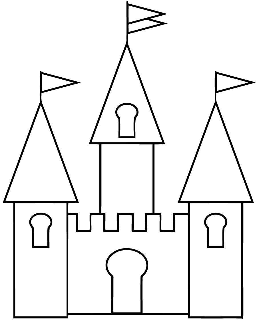 Dessin Chateau Simple Avec Coloriage Chateau 6 Et Comment