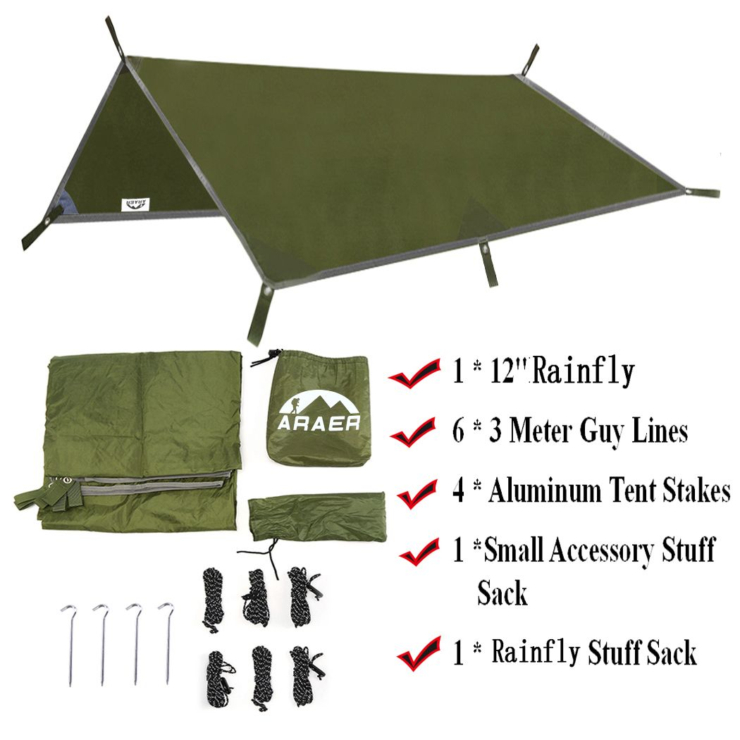 Tent Tarps  Portable Lightweight Tent Canopy Waterproof Hammock Shelters Rainfly Cover C&ing Sunshade For Hiking  sc 1 st  Pinterest & Tent Tarps  Portable Lightweight Tent Canopy Waterproof Hammock ...