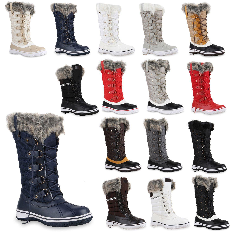 Details zu 892966 Warm Gefütterte Damen Stiefel