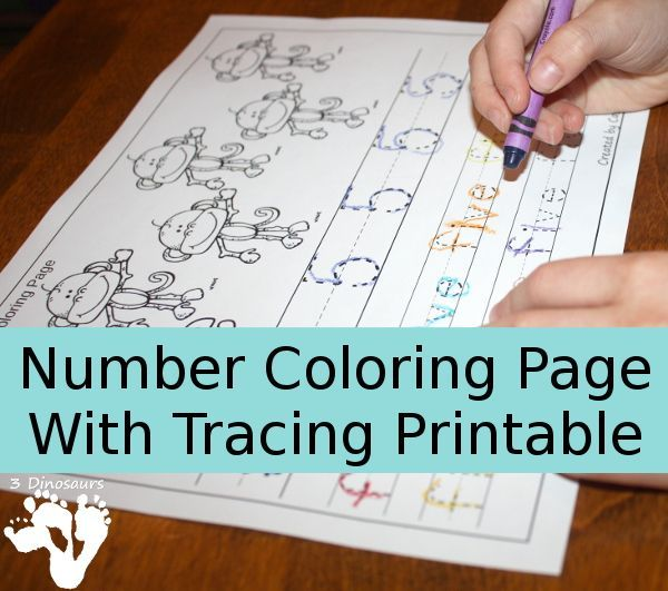 FREE Number Coloring Free Printables Pinterest Math - new coloring pages numbers 1